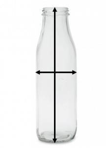 Grootte van een fles voor een etiket