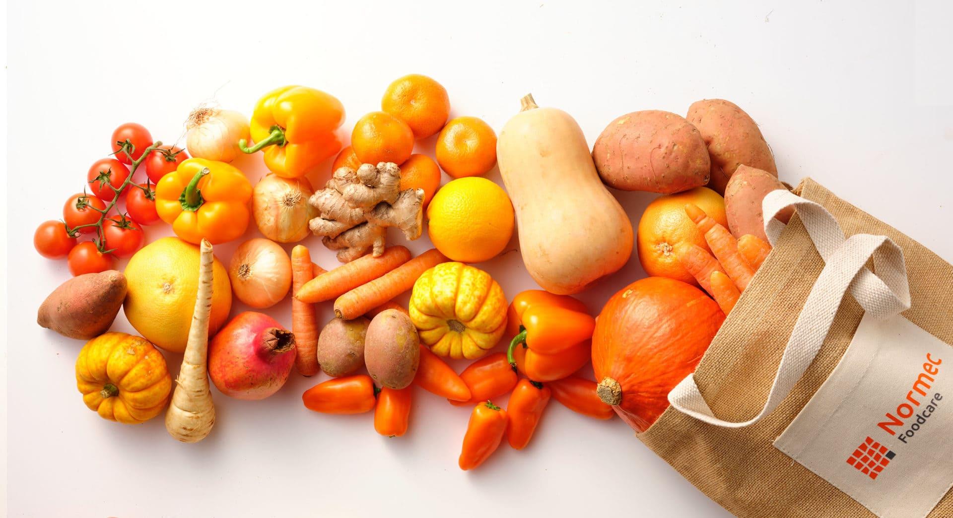 header oranje fruit en groenten