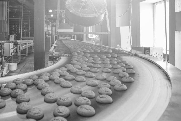 Productie bakkerij